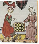 Otto Iv Of Brandenburg Playing Chess Wood Print