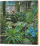 Ott's Greenhouse - Schwenksville - Pennsylvania - Usa Wood Print