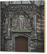 Oude Kerk Door Amsterdam Wood Print