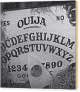 Ouija Board Queen Mary Ocean Liner Bw Wood Print