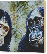 Our Closest Relatives Wood Print