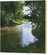 Our Fishing Hole Wood Print