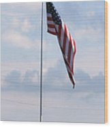 Our Flag Wood Print by Joseph Baril
