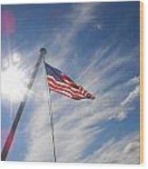 Our Flag Wood Print