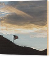 Our Flag Shall Prevail Over The Storm Wood Print