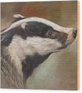 Our Friend The Badger Wood Print