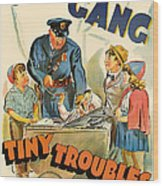 Our Gang Vintage Movie Poster 1930s Wood Print