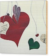 Our Hearts Beat For This World Wood Print