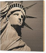Our Lady Liberty Wood Print
