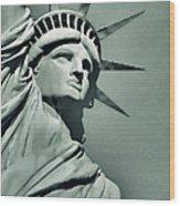 Our Lady Liberty - Verdigris Tone Wood Print