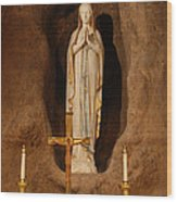 Our Lady Of Lourdes Wood Print