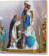 Our Lady Of Peace Wood Print by Karon Melillo DeVega