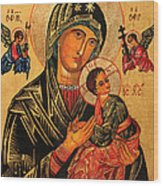 Our Lady Of Perpetual Help Icon II Wood Print by Ryszard Sleczka