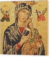 Our Lady Of Perpetual Help  Wood Print by Philip Ralley