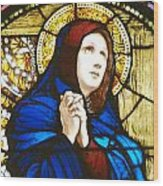 Our Lady Of Sorrows In Stained Glass Wood Print