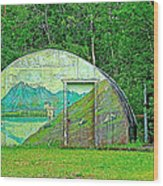 Our Lady Of The Way Quonset Hut Chapel In Haines Junction-yt Wood Print