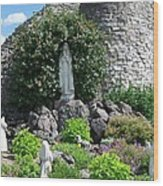 Our Lady Of The Woods Shrine Lll Wood Print