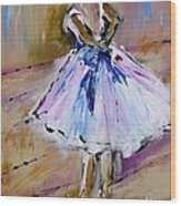 Our  Ballerina Girl Painting Wood Print