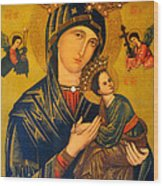 Our Mother Of Perpetual Help Rome Wood Print