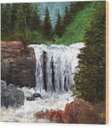 Ouray Falls Wood Print