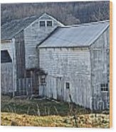 Out Behind The Barn Wood Print