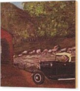 Out For A Drive Wood Print
