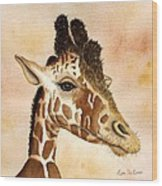 Out Of Africa's Giraffe Wood Print