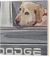 Out Of Dodge Wood Print by Molly Poole