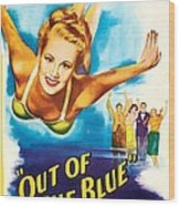 Out Of The Blue, Us Poster, From Left Wood Print