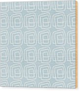 Out Of The Box Blue And White Pattern Wood Print