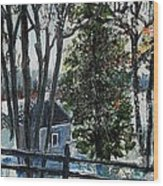 Out Of The Woods At Walden Pond Wood Print