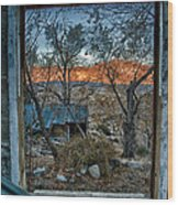 Out The Window Wood Print