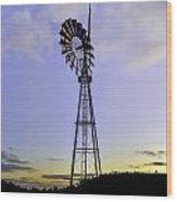 Outback Windmill Wood Print