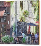 Outdoor Cafe Philadelphia Pa Wood Print
