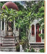 Outdoor Chapel In Gustavia  Wood Print