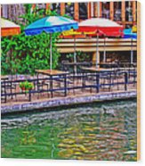 Outdoor Dining Wood Print