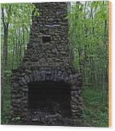 Outdoor Fireplace Wood Print