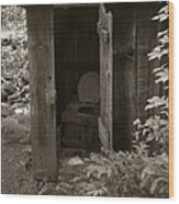 Outdoor Reading Wood Print