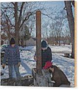 Outdoor Stove Wood Print