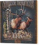 Outdoor Traditions Elk Wood Print