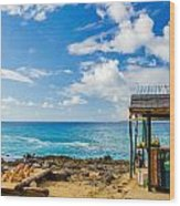 Outdoor Tropical Bar And Souvenirs Wood Print