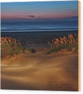 Outer Banks - Before Sunrise On Pea Island I Wood Print