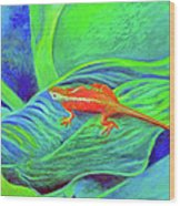 Outer Banks Gecko Wood Print