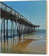 Outer Banks Pier South Nags Head 2 5/22 Wood Print
