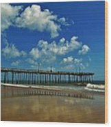 Outer Banks Pier South Nags Head 1 5/22 Wood Print