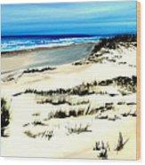 Outer Banks Sand Dunes Beach Ocean Wood Print