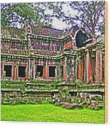 Outer Building Of Angkor Wat In Angkor Wat Archeological Park Near Siem Reap-cambodia  Wood Print