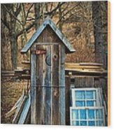 Outhouse - 5 Wood Print by Paul Ward