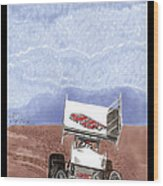 Outlaw Race Car Wood Print