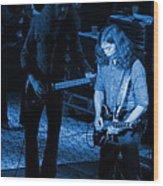 Outlaws #20 Crop 3 Blue Wood Print